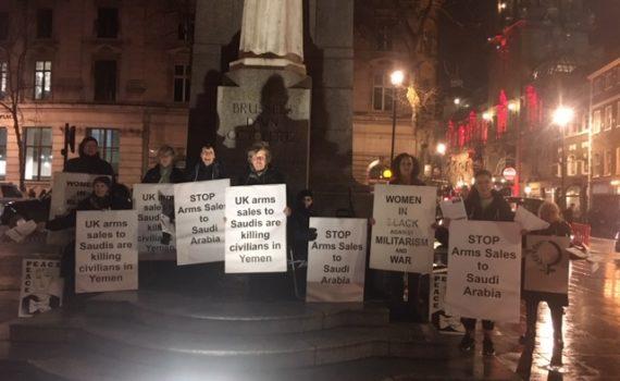 WiB Vigil 16 Jan 2019 End Arms sales to Saudi Arabia