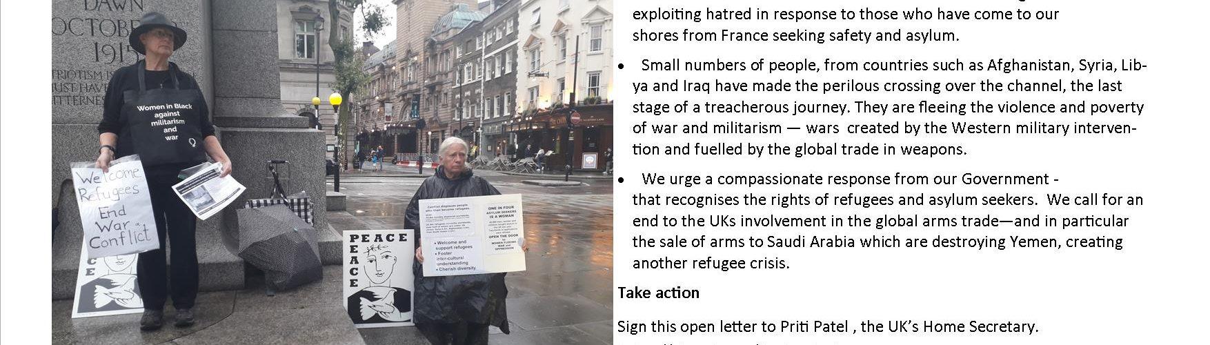 Women vigil for refugees