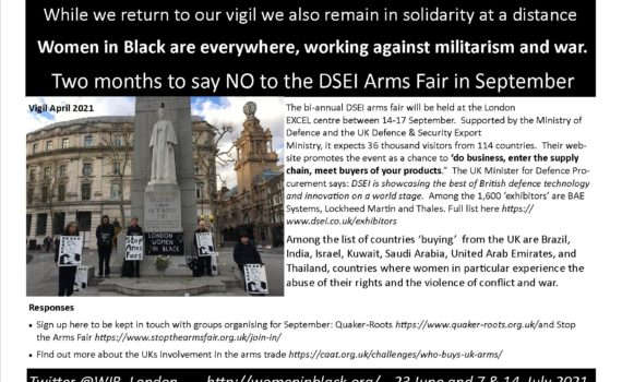 LEaflet to stop arms fair