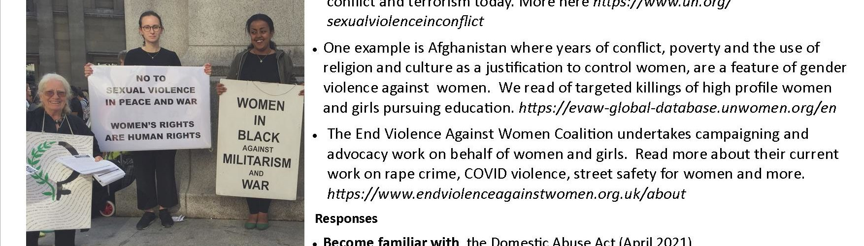 vigil no to violence against women
